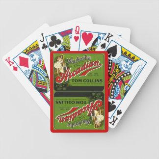 Vintage Waukesha Girl Ads Arcadian Sprgs Cards WI