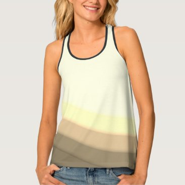 Vintage Wave Pattern Tank Top