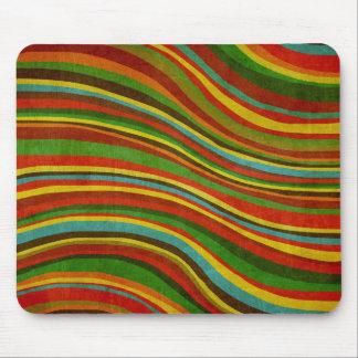 vintage wave texture mousepad