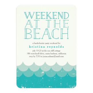 Vintage Waves Beach Weekend Getaway Invitation