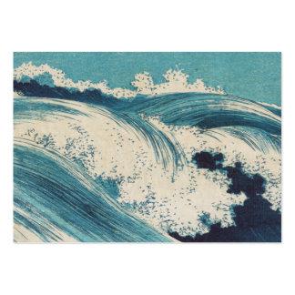 Vintage Waves Japanese Woodcut Ocean Business Card Templates