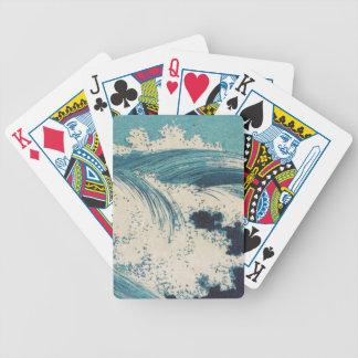 Vintage Waves Japanese Woodcut Ocean Deck Of Cards