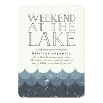 Vintage Waves Lake Weekend Getaway Invitation