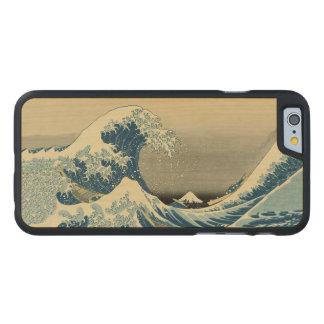 Vintage Waves Ocean Sea Boat Carved Maple iPhone 6 Slim Case