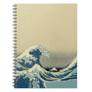 Vintage Waves Ocean Sea Boat Notebooks