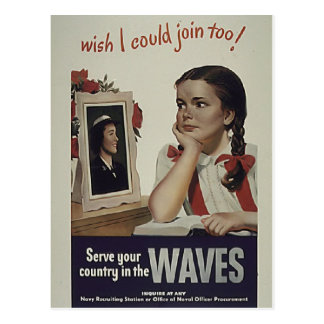 Vintage Waves Postcard