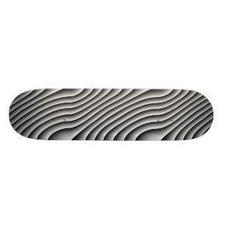 Vintage Wavy Lines Skateboard