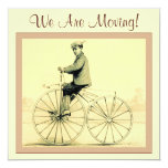 "Vintage ~ We Are Moving! 5.25"" Square Invitation Card"