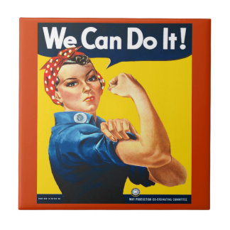 Vintage We Can Do It Rosie the Riveter Tile