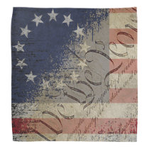 Vintage We The People Betsy Ross Flag Bandana