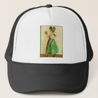 Vintage Wearing Of The Green St Patrick's Day Card Trucker Hat