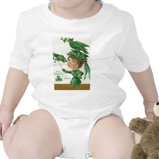 Vintage Wearing Of The Green St Patrick's Day Card Romper