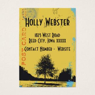 Vintage Weathered Postcard Business Card