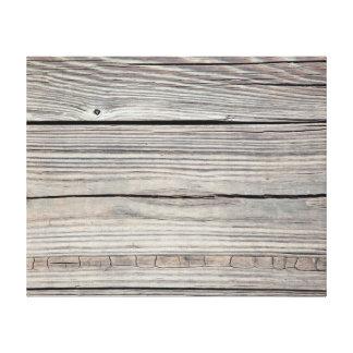 Vintage Weathered Wood Background - Old Board Canvas Print