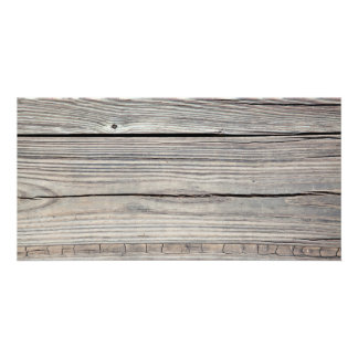 Vintage Weathered Wood Background - Old Board Card