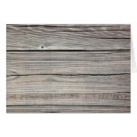 Vintage Weathered Wood Background - Old Board Stationery Note Card