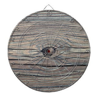 Vintage Weathered Wood Background - Old Board Dartboard