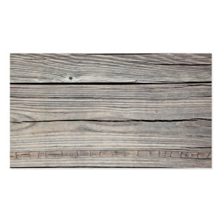 Vintage Weathered Wood Background - Old Board Double-Sided Standard Business Cards (Pack Of 100)