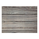 Vintage Weathered Wood Background - Old Board Poster