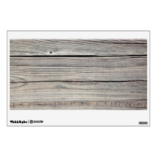 Vintage Weathered Wood Background - Old Board Wall Skin