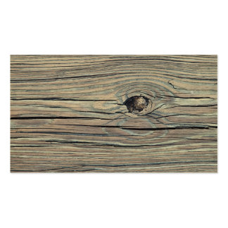Vintage Weathered Wood Background - Old Wooden Business Card