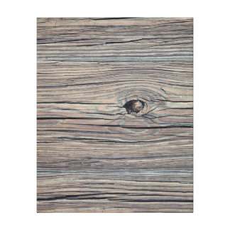 Vintage Weathered Wood Background - Old Wooden Canvas Print