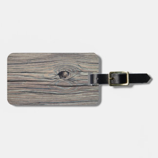 Vintage Weathered Wood Background - Old Wooden Luggage Tag