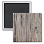 Vintage Weathered Wood Background - Old Wooden 2 Inch Square Magnet
