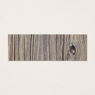 Vintage Weathered Wood Background - Old Wooden Mini Business Card