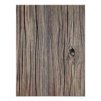 Vintage Weathered Wood Background - Old Wooden Poster