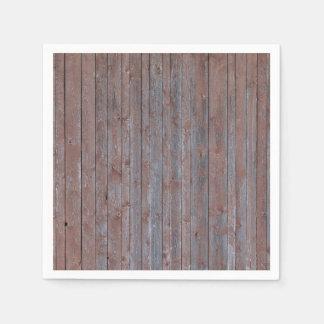 Vintage weathered wood wall texture standard cocktail napkin