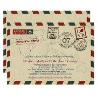 Vintage Wedding Airmail    Rehearsal Dinner Card