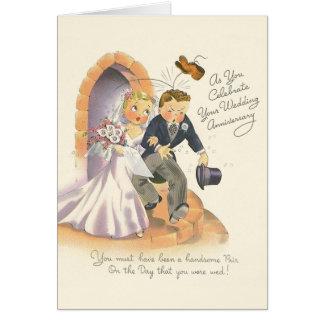 Vintage Wedding Anniversary Greeting Card