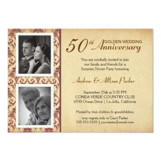 Vintage Wedding Anniversary Invitations - 2 photos