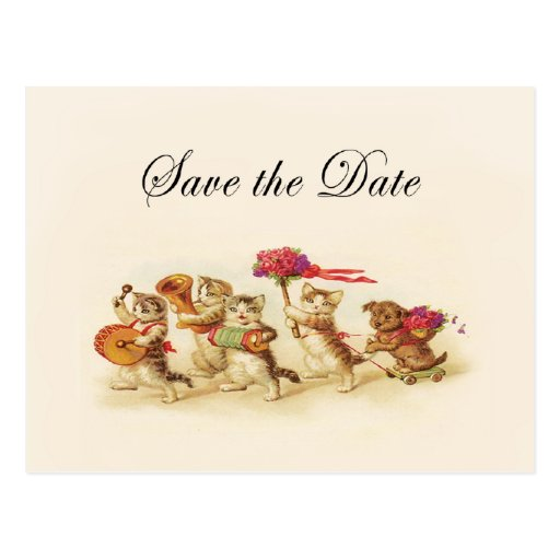 Vintage Wedding Announcement . .  . Save the Date Postcard