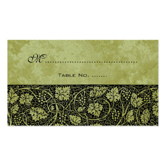 Vintage Wedding, Antique Victorian Grape Vines Double-Sided Standard Business Cards (Pack Of 100)