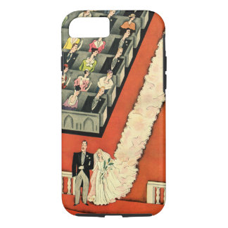 Vintage Wedding, Art Deco Bride and Groom Newlywed iPhone 7 Case