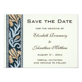 Vintage Wedding, Art Nouveau Iris Flowers Floral Card