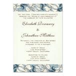 Vintage Wedding, Art Nouveau Iris Flowers Floral Personalized Invite