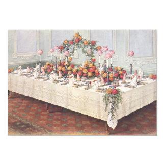 Vintage Wedding Banquet Table Invitation