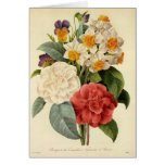 Vintage Wedding Bouquet, Blooming Flowers Greeting Cards