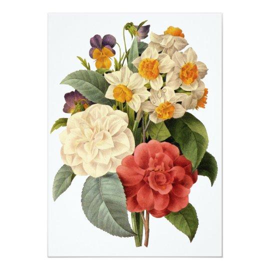 Vintage Wedding Bouquet, Blooming Flowers Card
