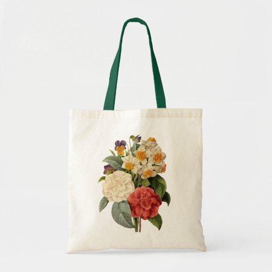 Vintage Wedding Bouquet, Blooming Flowers Tote Bag