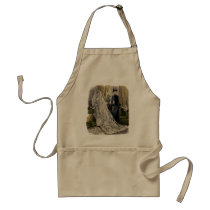 Vintage Wedding Bridal Portrait, Victorian Bride Adult Apron