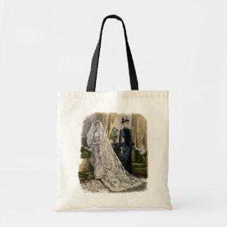 Vintage Wedding Bridal Portrait, Victorian Bride Tote Bag