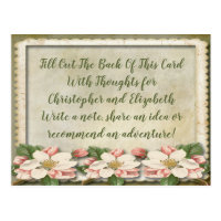 Vintage Wedding Bridal Shower Advice Well WIshes Postcard