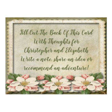 Wedding Themed Vintage Wedding Bridal Shower Advice Well WIshes Postcard