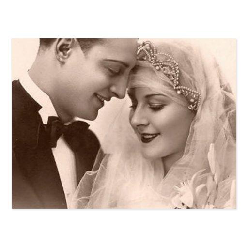 Vintage Wedding Bride and Groom Postcards