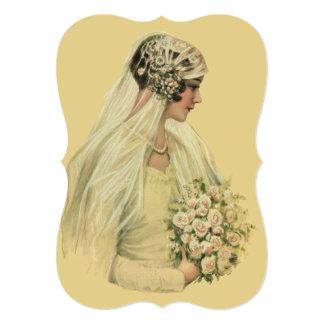 Vintage Wedding Bride, Bridal Shower Invitation