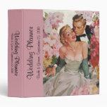 Vintage Wedding Bride Groom Newlyweds Flowers Vinyl Binders